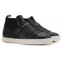 Hogan women's slip-ons ankle boots in black leather