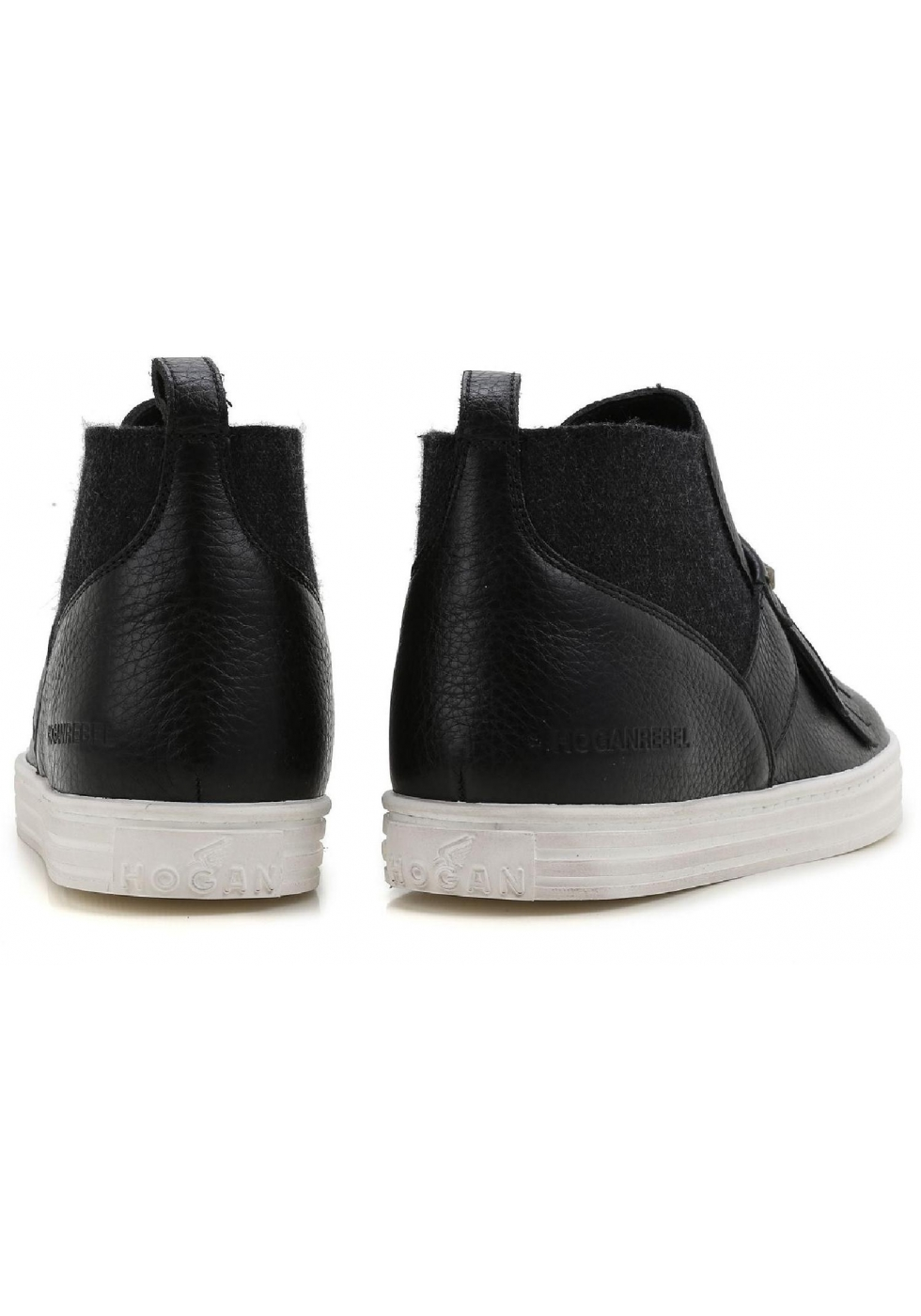 1626b00add Hogan women's slip-ons ankle boots in black leather - Italian Boutique