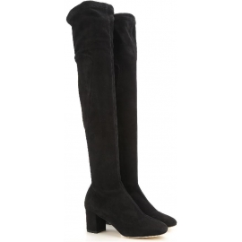 Dolce&Gabbana heels thigh high boots in black Suede leather