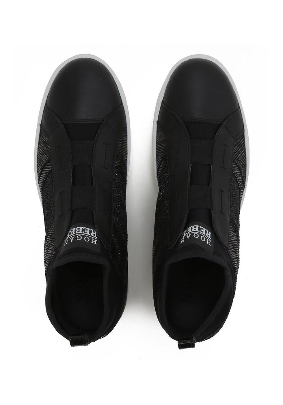 Hogan Rebel Women S Slip Ons Sneakers Black Leather Italian Boutique