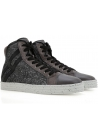 Hogan Rebel women's high top glitter leather sneakers