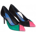 Salvatore Ferragamo heels pumps in patchwork suede