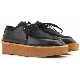Stella McCartney womens wedges lace-ups shoes black