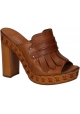 Casadei sandals with platform in tan Leather