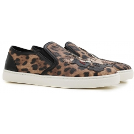 Dolce&Gabbana womens slip-ons in leopard Calf leather