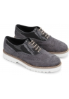 Hogan womens lace-up shoes gray suede and patent leather