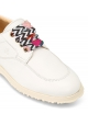 Hogan women's sneakers in white leather and decorative laces
