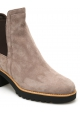Hogan women's heeled ankle boots with beige suede