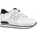 Hogan women's wedge sneakers in white leather