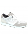Hogan men's sneakers in perforated leather and white and gray suede