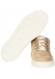 Hogan women's padded sneakers in beige nubuck and faux fur