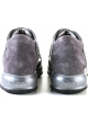 Interactive Hogan women's sneakers in gray patent leather and suede