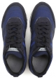 Hogan Rebel men's low top blue fabric/suede sneakers