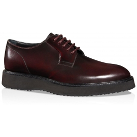 Hogan Route X H271 lace-ups in burgundy leather