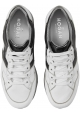 Hogan Women's fashion high wedges sneakers in white leather with metallic logo