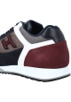 Hogan Men's fashion round toe lace-ups sneakers shoes in multicolor leather