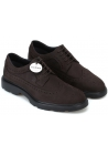 Hogan Men's fashion round toe lace-ups shoes in brown nubuck leather