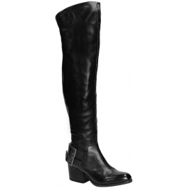 Vic Matié thigh high boots in black Leather