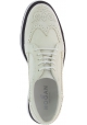 Hogan Women's round toe brogues lace-ups wedges shoes in white leather