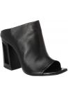 Vic Matié women's black leather high-heeled mules