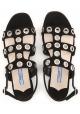Prada women's flat sandals in black suede