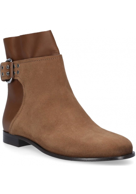 Jimmy Choo flat ankle boots in light brown suede