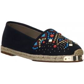 Zanotti women's espadrilles in black suede and studs