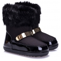 Zanotti womens padded boots in black leather and fabric