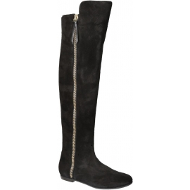 Giuseppe Zanotti thigh high boots in black Suede leather