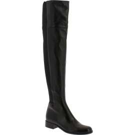 Gucci women's thigh boots in black nappa leather