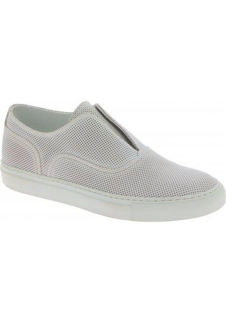 Sartore women's slip on sneakers in white leather