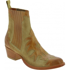 Sartore women's Texan ankle boots in beige leather