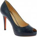 Santoni high heels platform pumps in blue leather