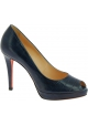 Santoni high heels platform pumps in blue leather