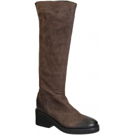 Vic Matié knee high boots in brown Suede leather