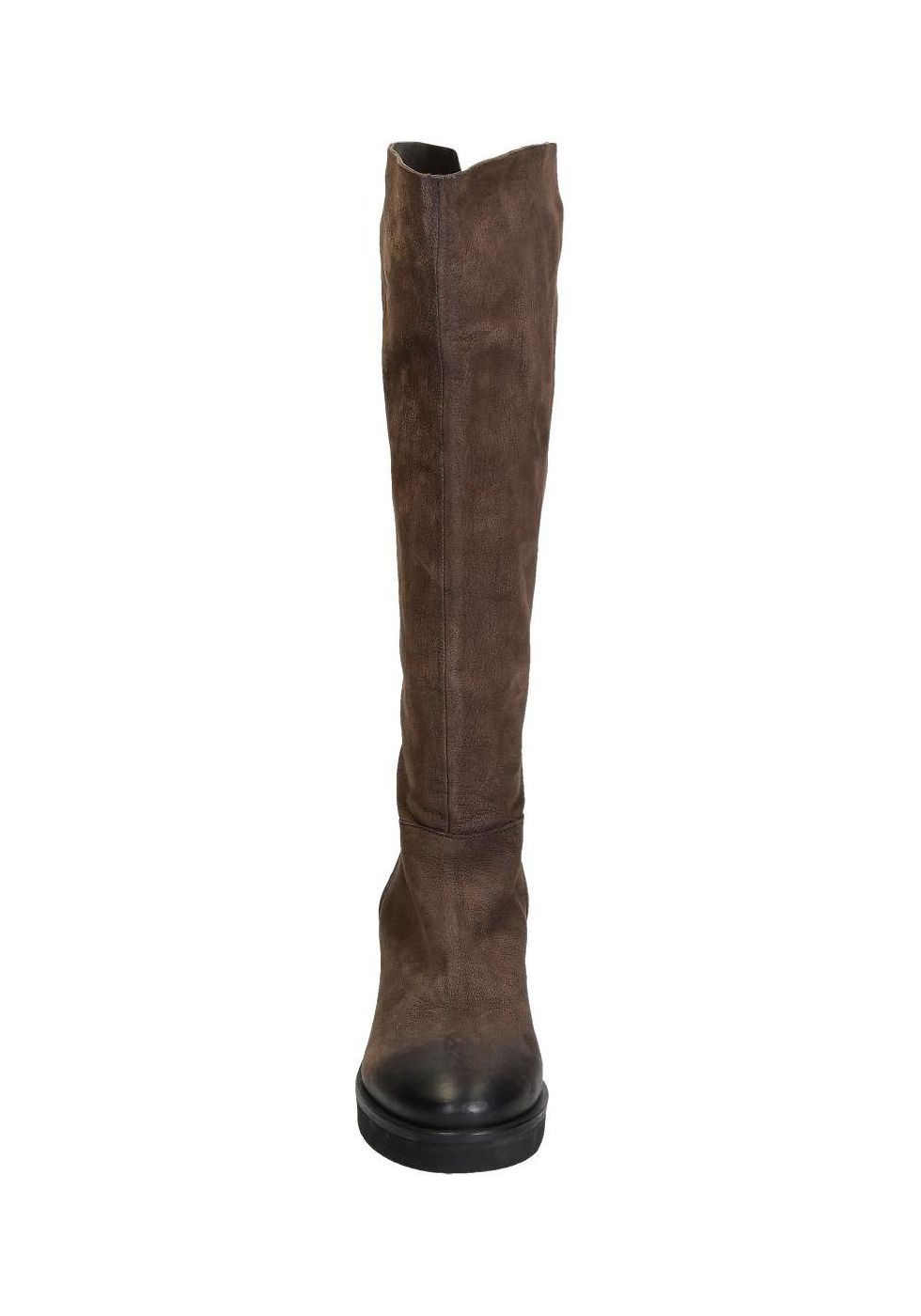 Vic Mati 233 Knee High Boots In Brown Suede Leather Italian