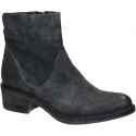Vic Matié low heels ankle boots in black Suede leather