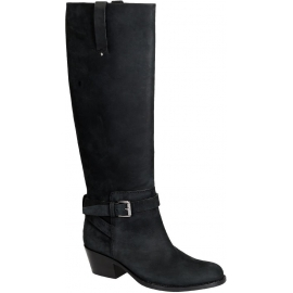 Barbara Bui knee high boots in black Leather Nubuck
