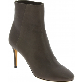 Jimmy Choo Women's stiletto heels ankle boots in gray leather with back zip