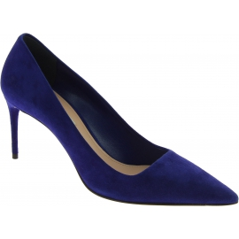Miu Miu Women's pointy stiletto heels pumps shoes in dark blue suede leather