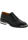 Barbara Bui Women's fashion laceless squared heel shoes in black leather
