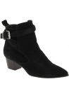 Barbara Bui Women's pointy heeled ankle boots in black suede leather with buckle