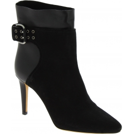 Jimmy Choo Women's high stiletto heels pointy ankle boots in black leather