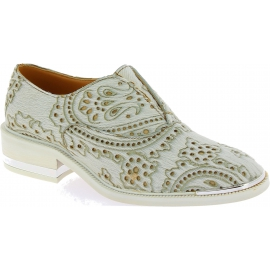 Barbara Bui Women's fashion slip-on loafers shoes in white pony leather