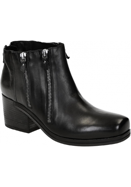 Vic Matié heeled ankle boots in black Leather