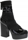 Pierre Hardy midcalf high heels booties in black Suede leather