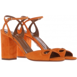 Aquazzura high heel sandals in orange Suede leather