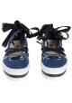 MSGM strappy slip-ons loafers in Denim