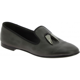 Giuseppe Zanotti Women's fashion roudn toe ballet flats shoes in black leather