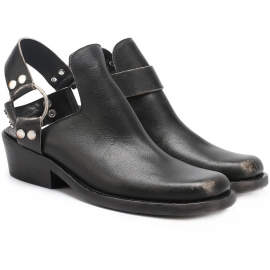 Balenciaga ankle boots in black used effect leather
